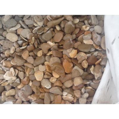 Галька морская медовая (бежевая) 40-70 мм