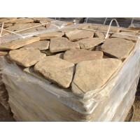 Галтованный камень Песчаник желтый с разводами