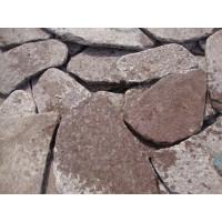 Галтованный камень Лемезит Бордо красный