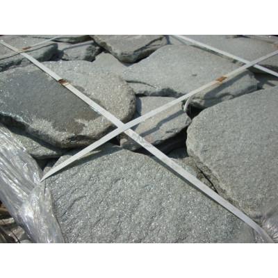 Природный камень галтованный кварцит Серебрит
