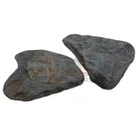 Галтованный камень Черный Златолит