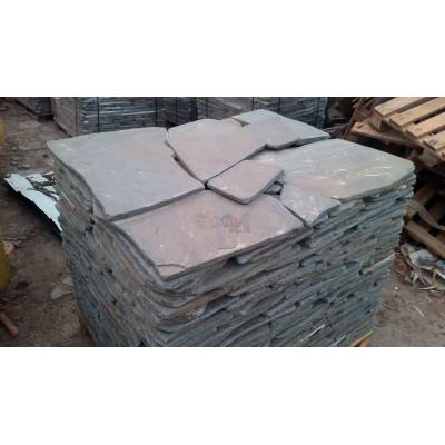Галтованный камень Песчаник серо-синий