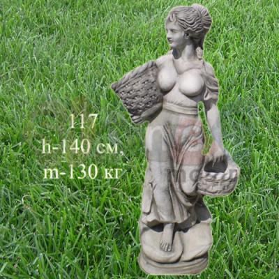 Скульптура Девушка с корзинами