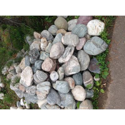 Природный камень валун Микс (речной)